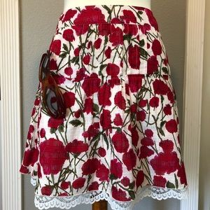 ANNA  SUI for Anthropologie Russelliana skirt